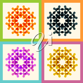 Set color molecule and technology pattern eps.
