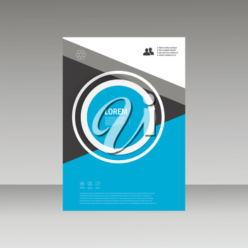 Vector Leaflet Brochure Flyer template A4 size design, annual report, book cover layout design, abstract cover design.