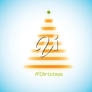 Christmas tree icon on a simple background.