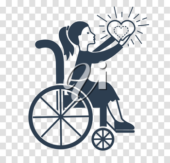 Icon  of Disabled Persons. Holiday - International Day of Disabled Persons. silhouette icon in the linear style