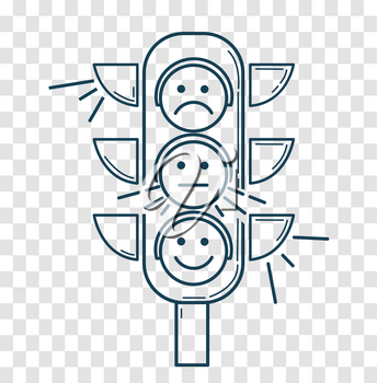 Icon, silhouette Traffic Light  in the linear style