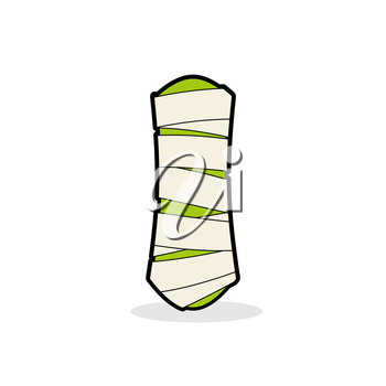 Letter I Mummy. Typography icon in bandages. Horrible Egyptian elements template zombies alphabet. ABC concept type as logotype.