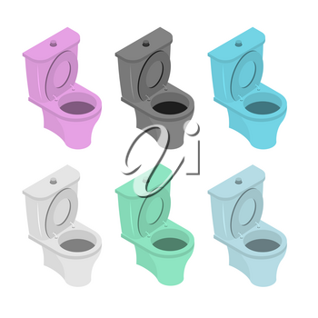 Colored toilet. Colored accessory for WS