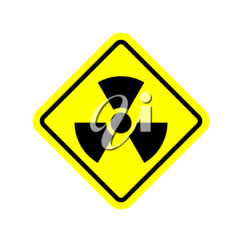 Radiation Danger sign. Caution chemical hazards. Warning sign of radioactive contamination