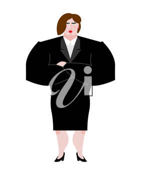 Woman boss. Female bank businesswoman in suit. Serious business lady