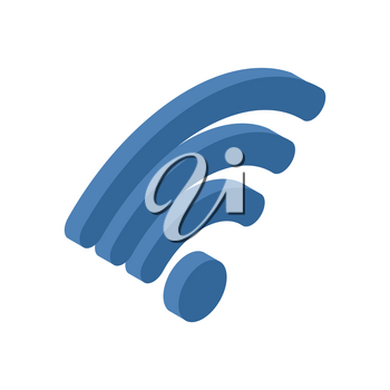 Wi-fi sign. WiFi symbol. Wireless connection icon