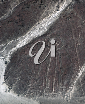 astronaut is visible from the Nazca desert. Because of the inclined position of the astronaut, it may have been subjected to more erosion than the flat symbols.