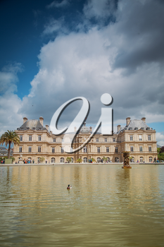 Luxembourg Gardens - palace and park ensemble in the heart of Paris. Former royal, now national palace park
