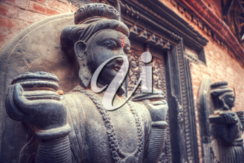 snake pit. hindu mythology in the water reservoirs in Bhaktapur Durbar square , Kathmandu, Nepal,Asia,unesco heritage