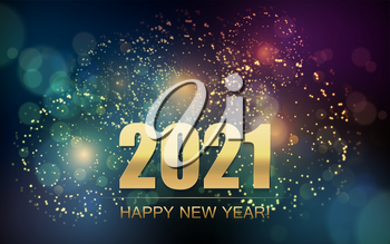 2021 New Year Abstract background with fireworks . For Calendar, poster design