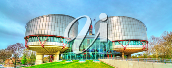 The European Court of Human Rights in Strasbourg - Alsace, France