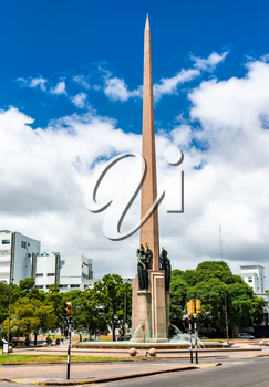 Obelisk of the first Constitution of Uruguay in Montevideo