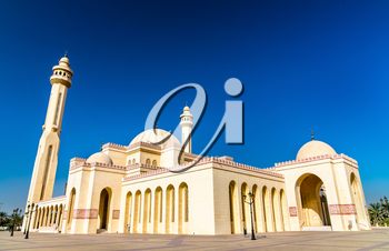 Al Fateh Grand Mosque in Manama, the capital of Bahrain. One of the largest mosques in the world