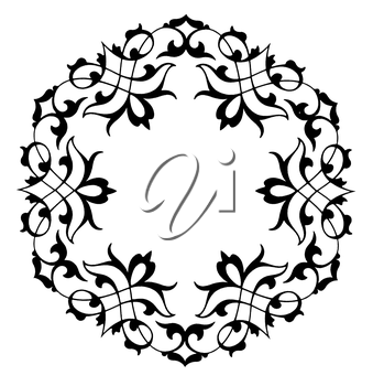 Royalty Free Clipart Image of a Round Decorative Frame