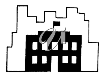 Royalty Free Clipart Image of a School