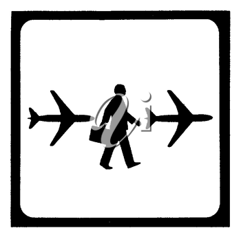 Royalty Free Clipart Image of an Airport Sign