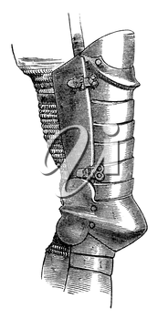 Royalty Free Clipart Image of Leg Armour
