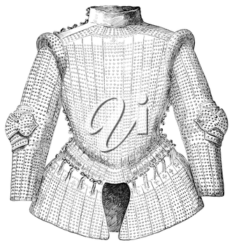 Royalty Free Clipart Image of the Top Half of a Suit of Armour