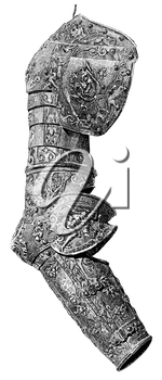 Royalty Free Clipart Image of the Sleeve of a Suit of Armour
