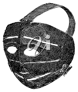 Royalty Free Clipart Image of a Medieval Excutioner's Mask