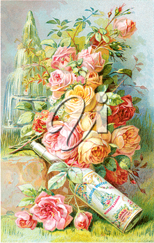 Royalty Free Photo of a  Vintage Perfume Advertisement