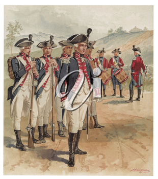 Royalty Free Clipart Image of Washington's Army