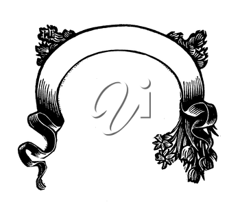 Royalty Free Clipart Image of a Decorative Banner