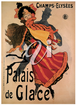 Royalty Free Clipart Image of an Old Ice Palace Poster
