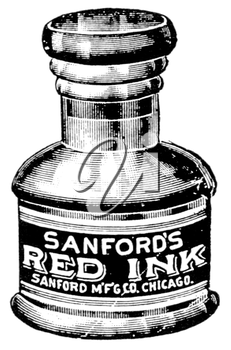 Royalty Free Clipart Image of an Inkwell