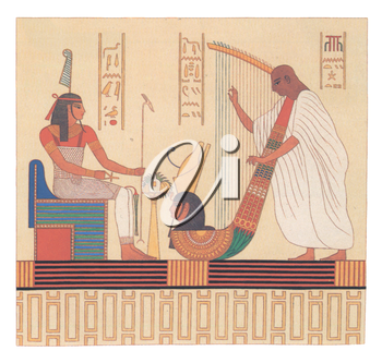 Royalty Free Clipart Image of an Egyptian Illustration