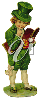 Royalty Free Clipart Image of a Boy in Irish Costume