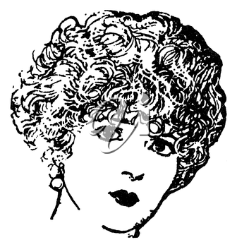Royalty Free Clipart Image of a Woman's face