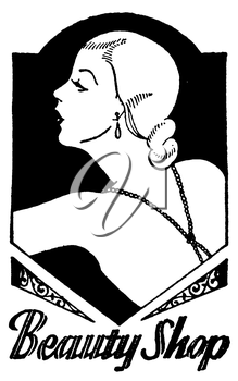 Royalty Free Clipart Image of a Vintage Beauty Advertisement