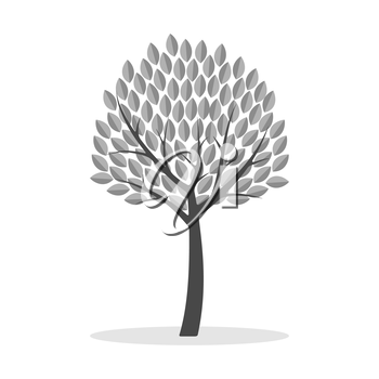 Tree icon. Symbol in trendy flat style isolated on white background. Illustration element for your web site design, logo, app, UI.
