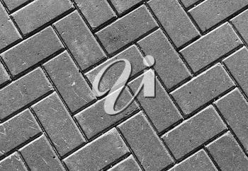 Horizontal vivid black and white street pavement textured background backdrop
