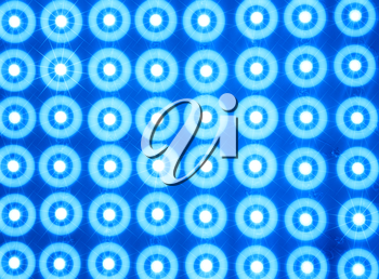 Blue led lines and rows illustration background