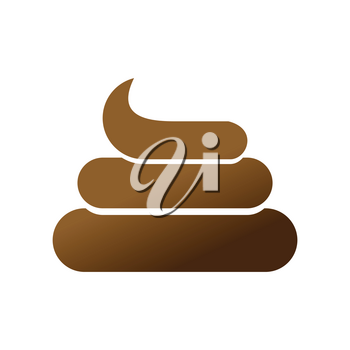 Shit icon. Brown Turd sign. Poop symbol isolated