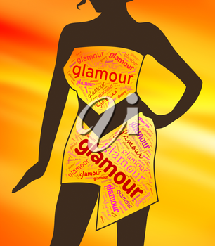 Glamour Clothes Representing Clothing Glamorous And Vogue