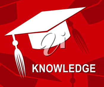 Knowledge Mortarboard Showing Know How And Wisdom