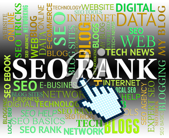 Seo Rank Showing Web Site And Www