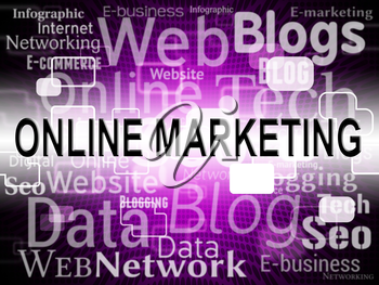 Online Marketing Indicating Email Lists And Sales