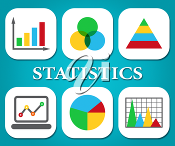Statistics Charts Meaning Stats Statistical And Diagram