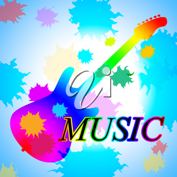 Guitar Music Meaning Sound Track And Play