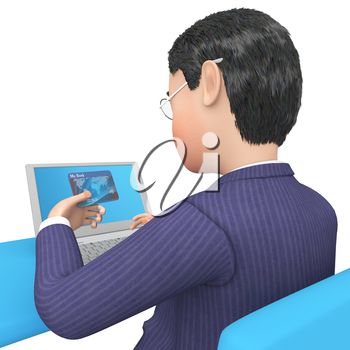 Credit Card Showing World Wide Web And Website 3d Rendering