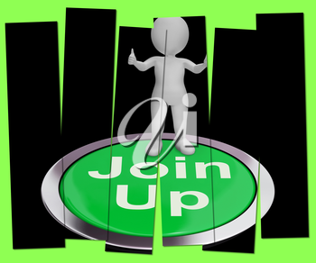 Join Up Pressed Showing Subscription Or Registration