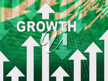 Growth Graph Meaning Trend Gain And Graphic