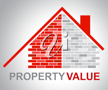 Property Value Representing Current Prices And Home