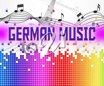 German Music Showing Sound Track And Song