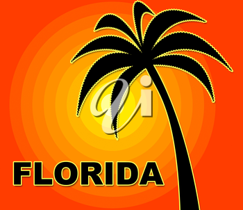 Florida Holiday Representing Go On Leave And Summer Time