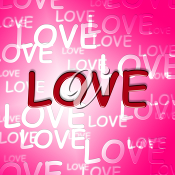 Love Words Representing Affection Fondness And Romance